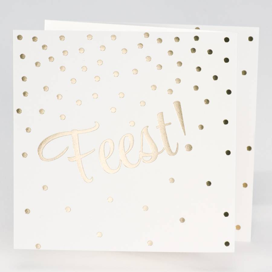 Buromac La Vie en Rose Jubileumkaart Drieluik FEEST met confetti in goudfolie (106311)
