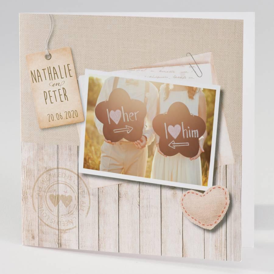 Favoriete Trouwkaarten van hoge kwaliteit op mooi papier - Printtijgers #BR42