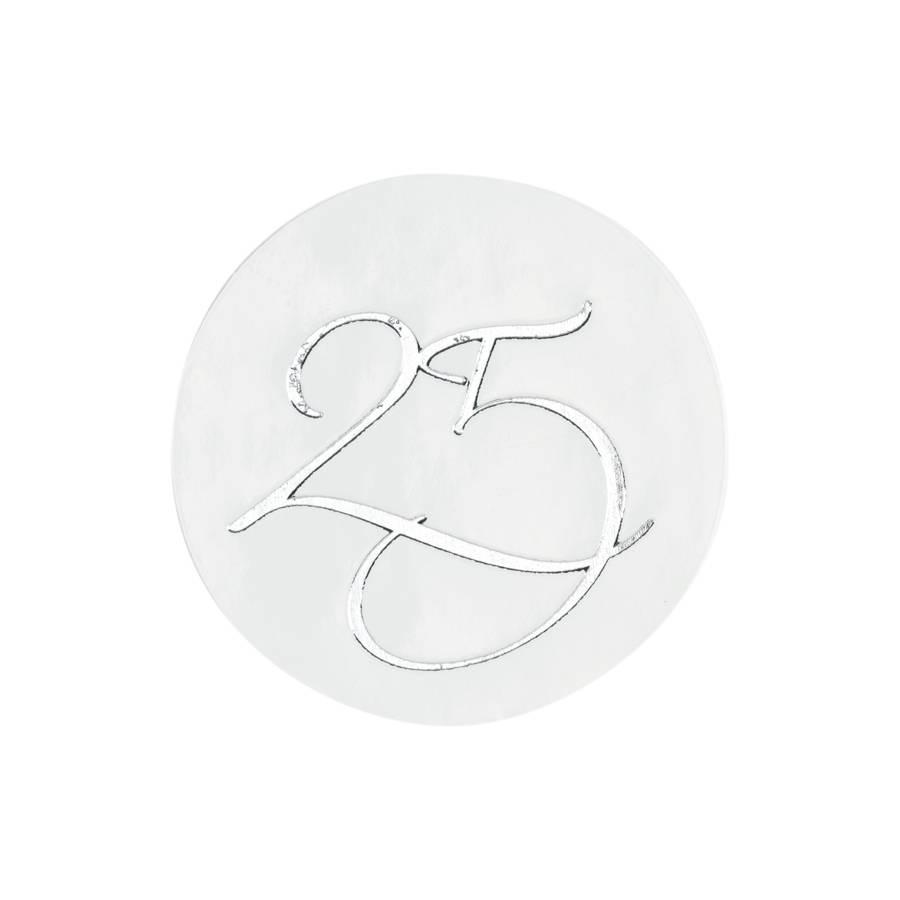 Buromac La Vie en Rose Sluitzegel 25 zilverfolie (176107)