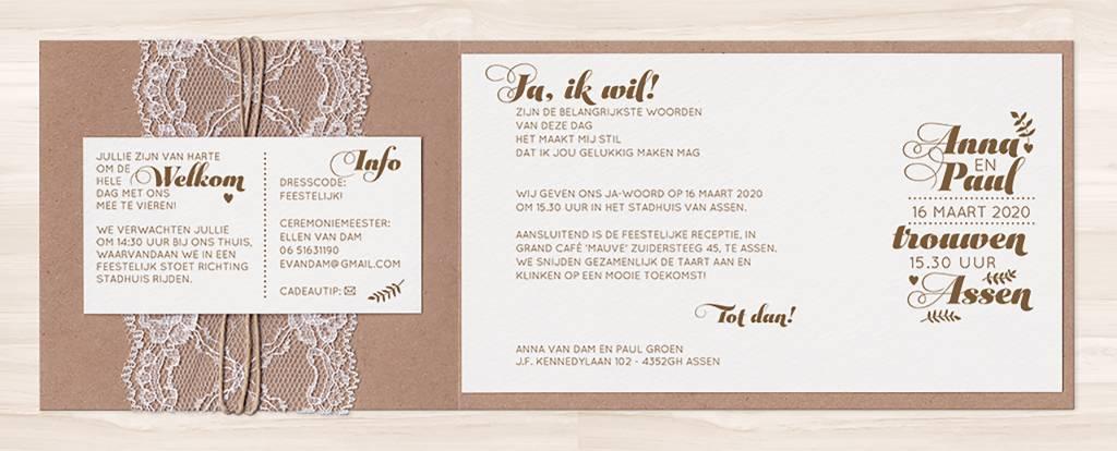Belarto Yes We Do Huwelijkskaart - Stoer en elegant (728026)