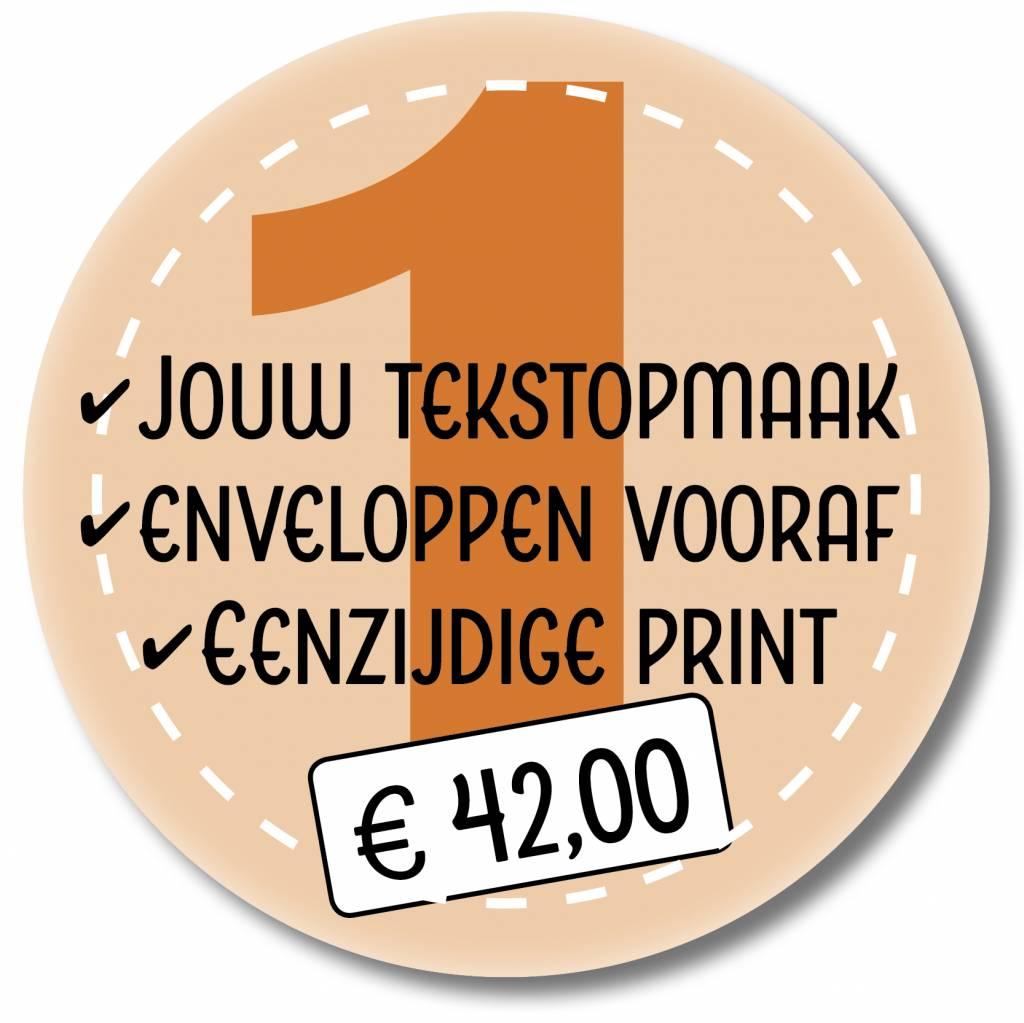 Eenzijdig printen eigen tekstopmaak en enveloppen leveren (999021)