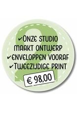 Tweezijdig printen en enveloppen leveren (999012)