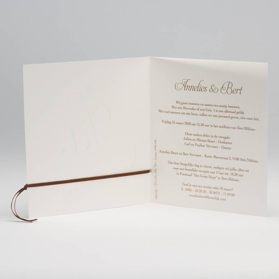 Buromac La Vie en Rose Vierkante trouwkaart met koperfolie (106125)