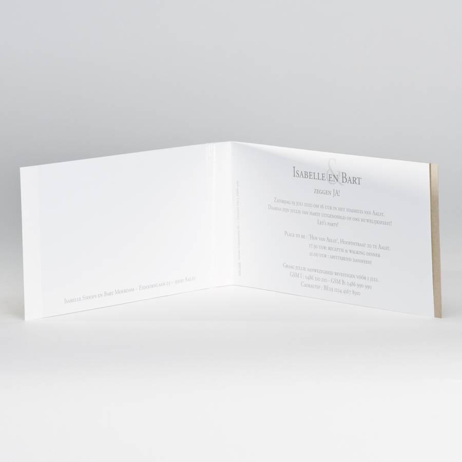 Buromac La Vie en Rose Eco trouwkaart met flower power  (106026)
