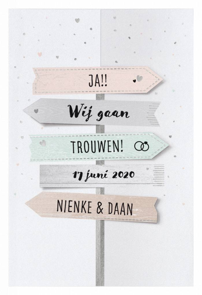 Belarto Yes We Do Trouwkaart - Wegwijzer (728000)