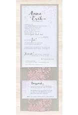 Belarto Yes We Do Trouwkaart - Romantisch met roze kant (728028)