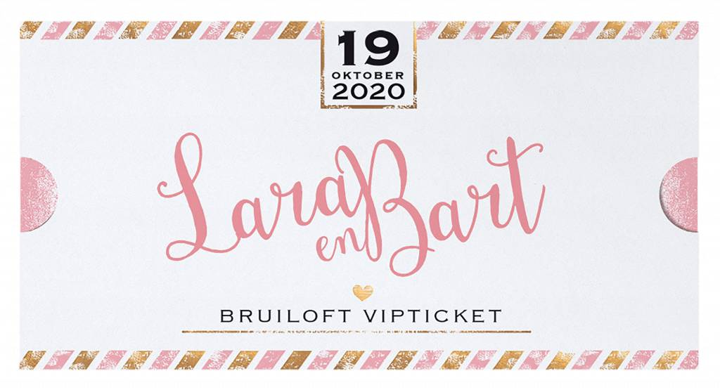 Belarto Yes We Do Trouwkaart - Bruiloft VIP-ticket (728021)