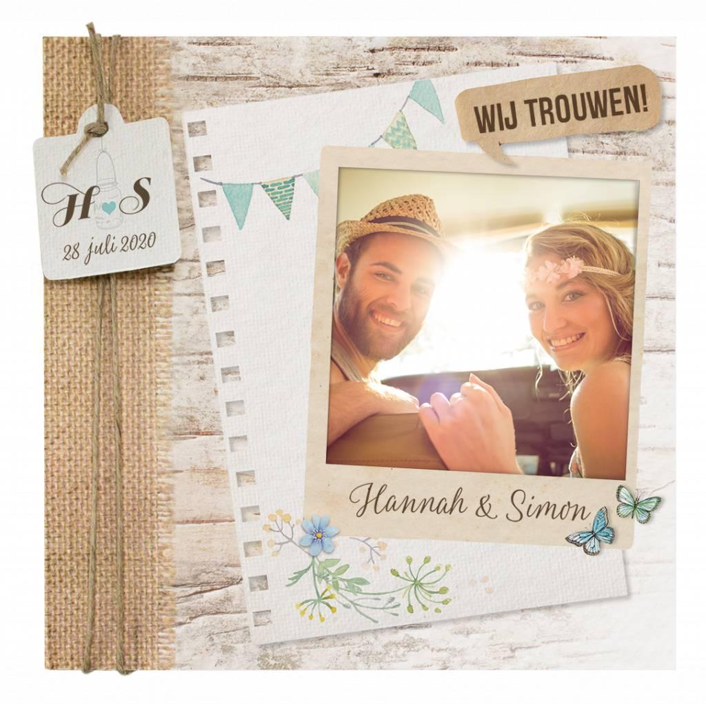 Belarto Yes We Do Trouwkaart - Bohemian wedding (728015)