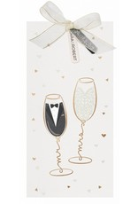 Belarto Yes We Do Trouwkaart - Mr & Mrs in een champagneglas (728013)