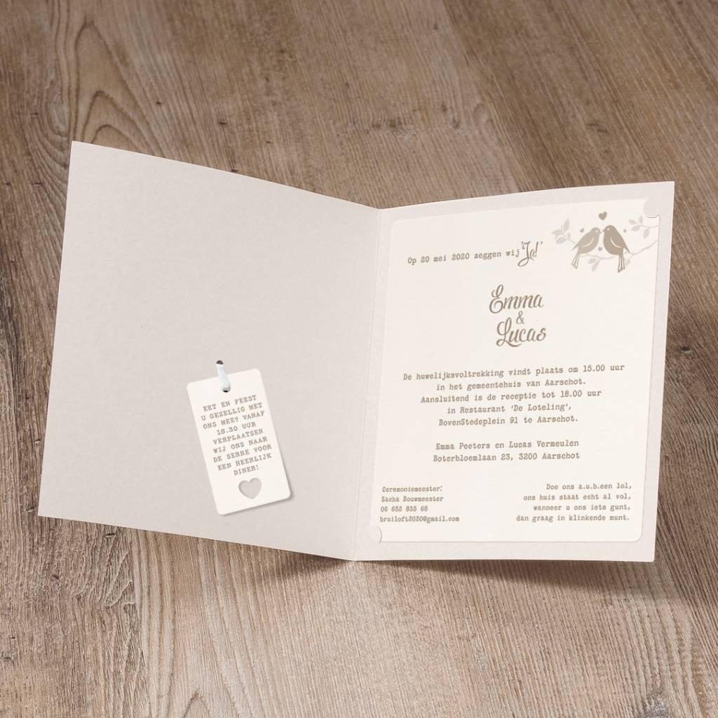 Belarto Yes We Do Trouwkaart - Elegant wedding (728008)