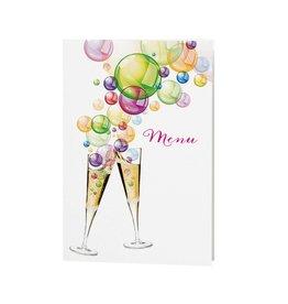 Belarto Jubileum Menukaart bubbels met vrolijke kleuren en drankjes