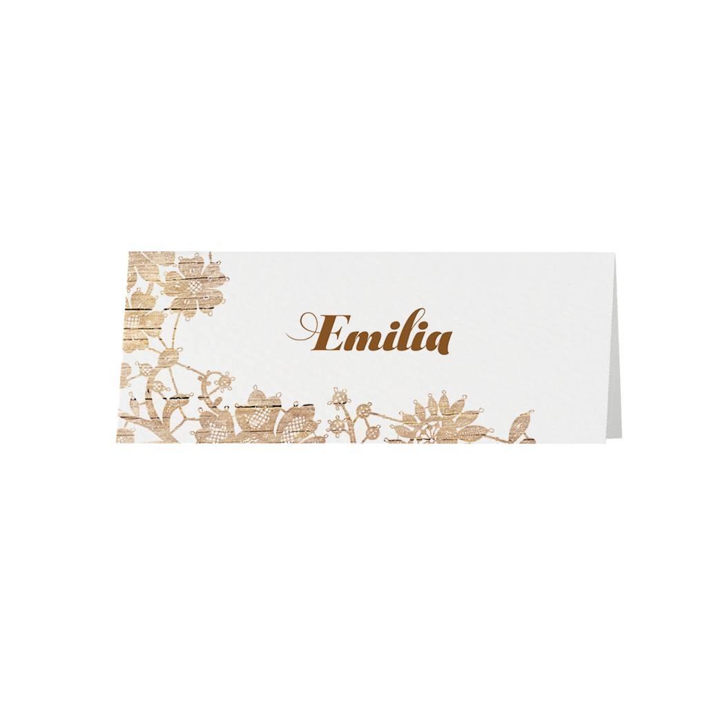 Belarto Jubileum 2016 Tafelkaart vintage houten bloemenpatroon (786753)