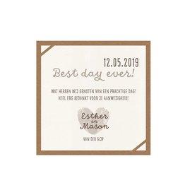 Belarto Bohemian Wedding Save the date bij trouwkaart 'Wij trouwen' met kraft-jasje