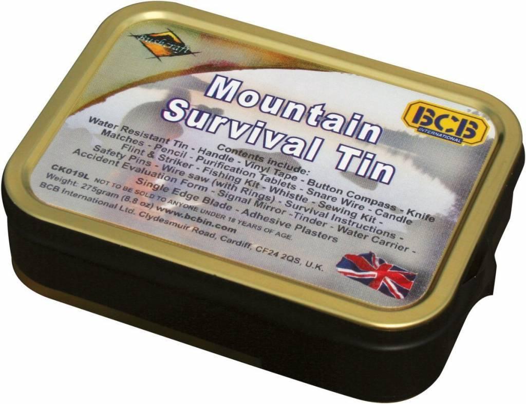 BCB Adventure Mountain Survival Tin