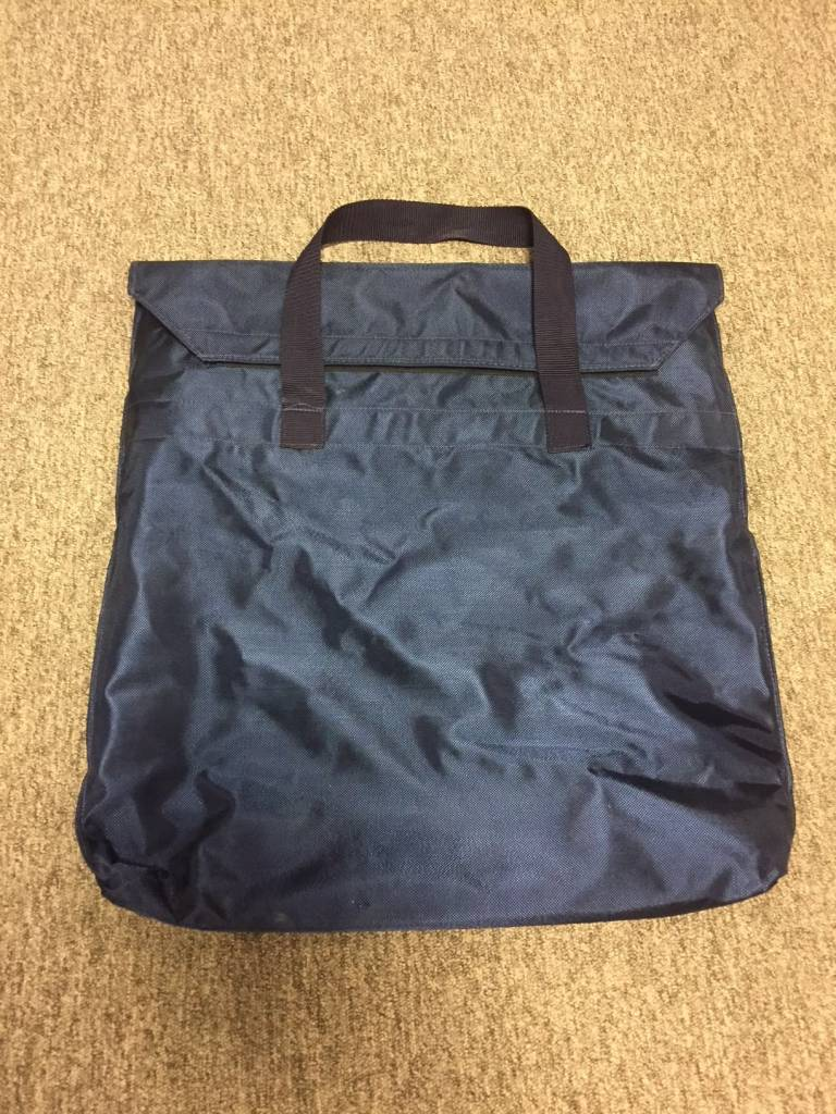 Blue transportationbag for vests