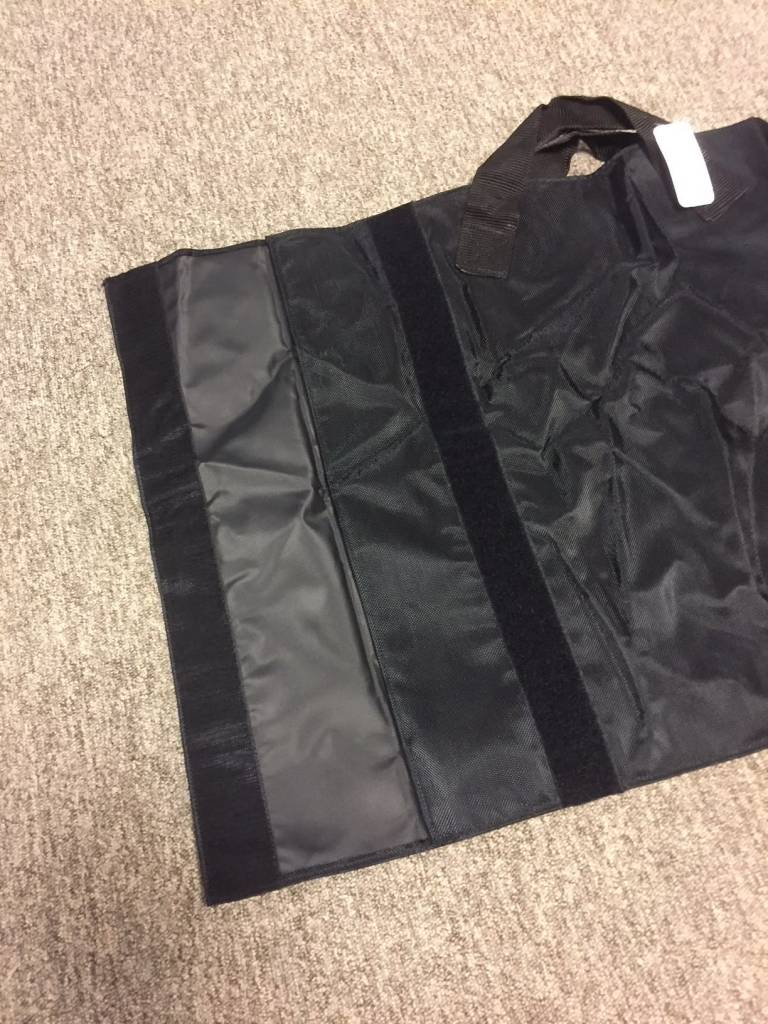 Black transportationbag for vests