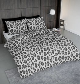 Wake-Up! Bedding Dekbedovertrek Leopard Grijs