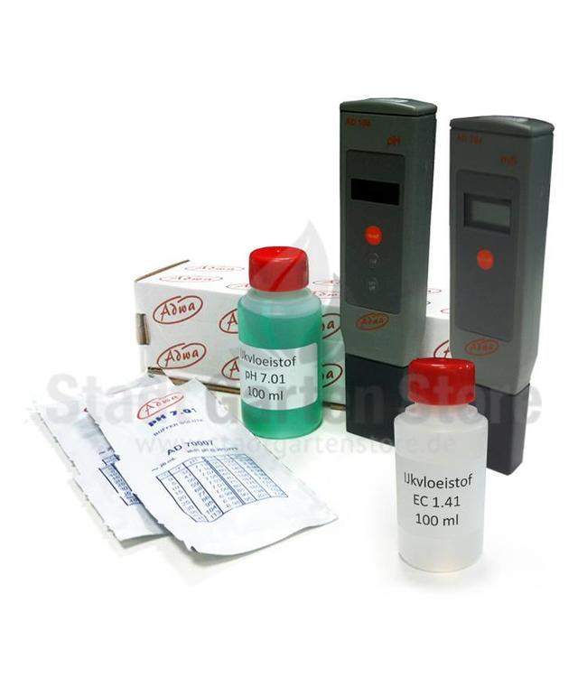 Adwa pH- und EC-Messgeräte Komplett Set