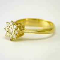 18 karaat geel gouden ring met briljanten