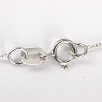 14 karaat witgouden collier met witgouden hanger q126884WB