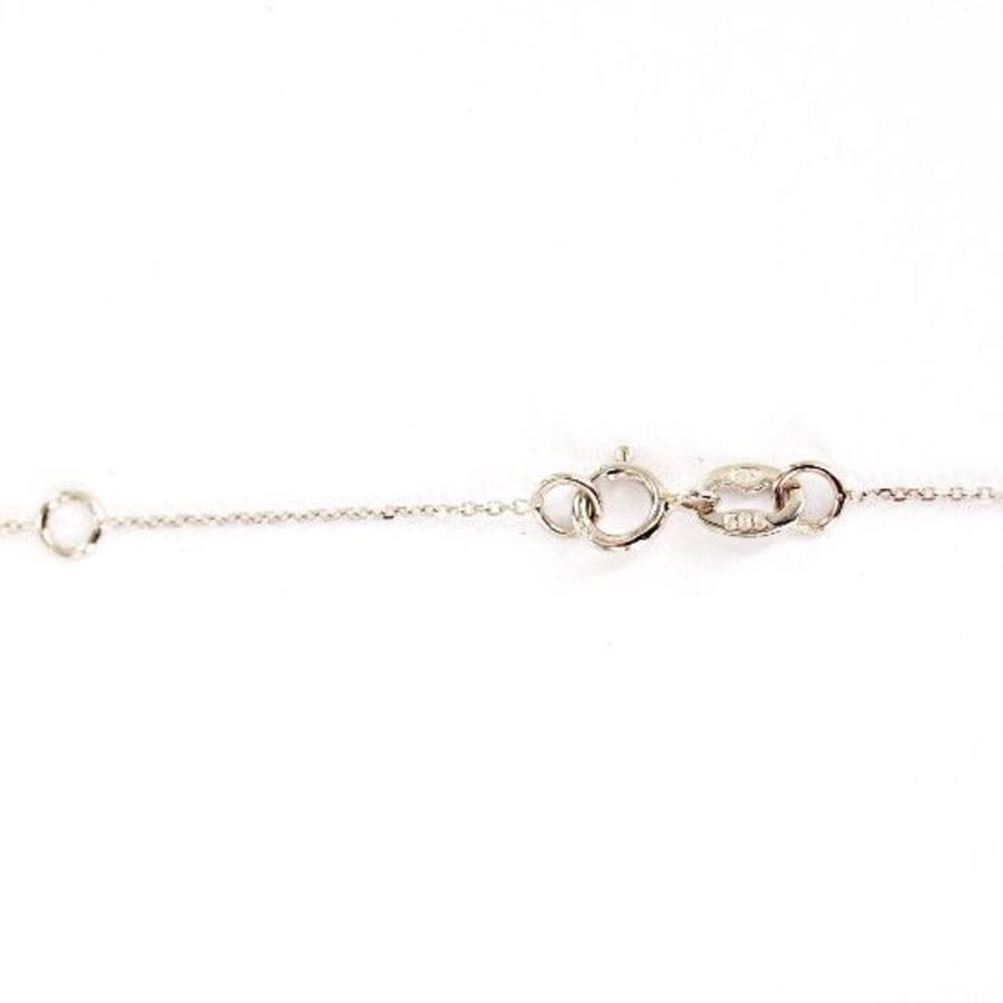 14 karaat witgouden collier met hanger