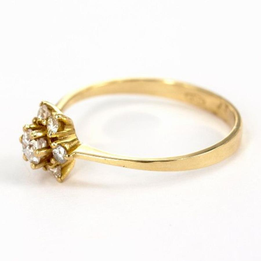 18 k geel gouden entourage ring met   Briljant