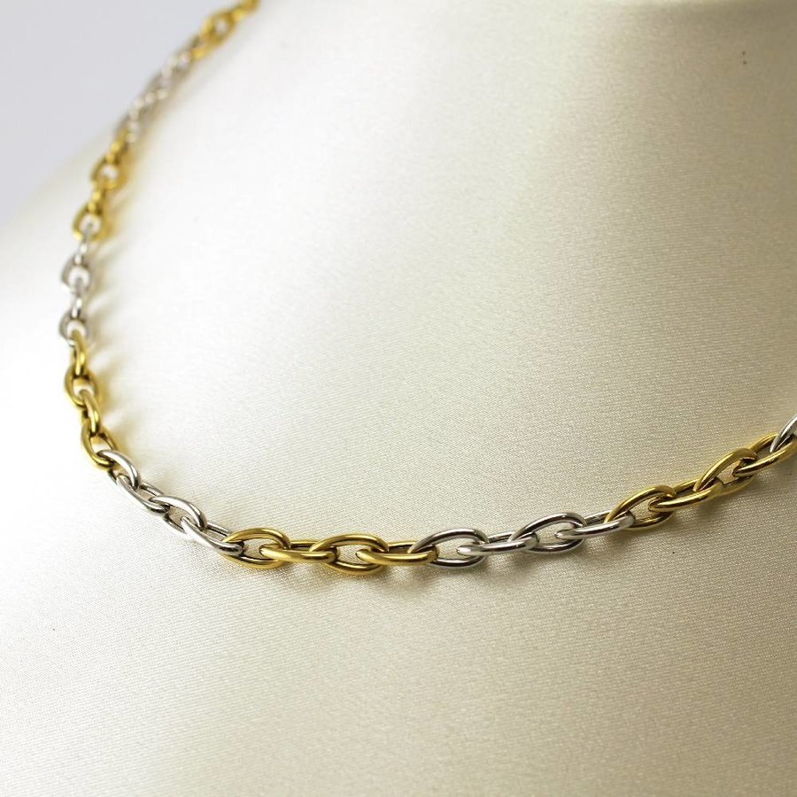18 krt. bicolor gouden collier