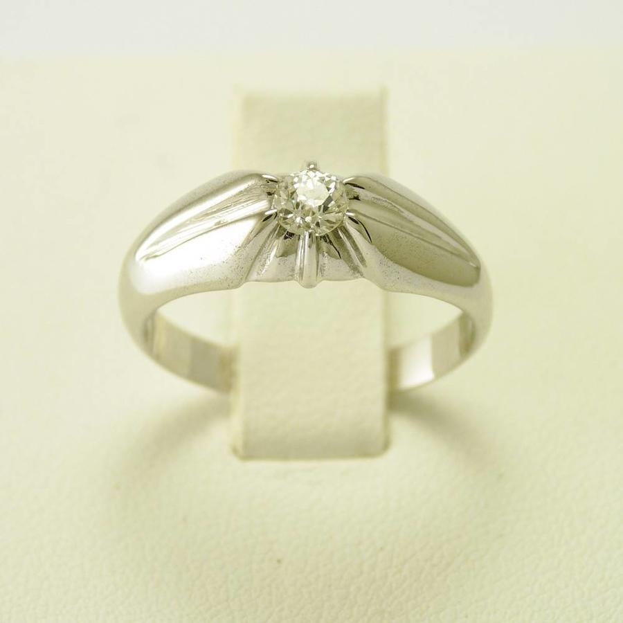 14 krt. wit gouden ring. Tiffany stijl