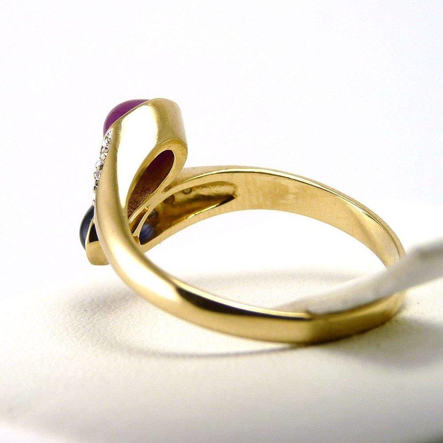 14 krt. geel gouden damesring