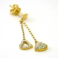 18 karaat geel gouden setje