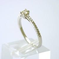 18 karaat wit gouden ring met Briljant