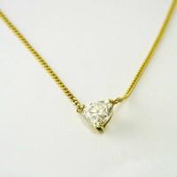 14 karaat geel gouden choker met diamant