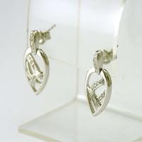 14 karaat wit gouden oorbellen