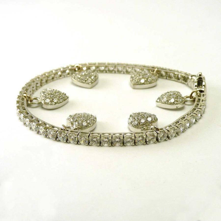 14 karaat wit gouden armband