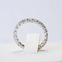 14 krt. wit gouden alliance ring