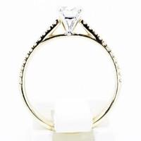 18 krt geel gouden ring met 0.51ct Diamant