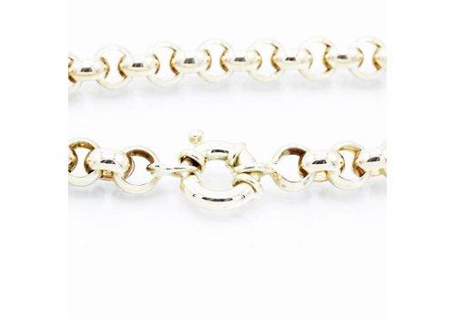 14 krt geel gouden Jasseron armband