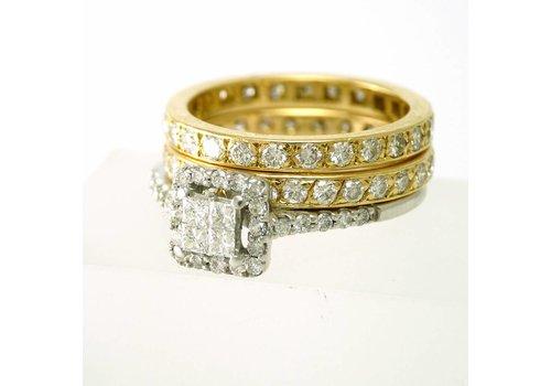 Set van 3 18 krt. gouden ringen