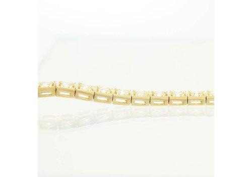 18 krt. geel gouden tennisarmband