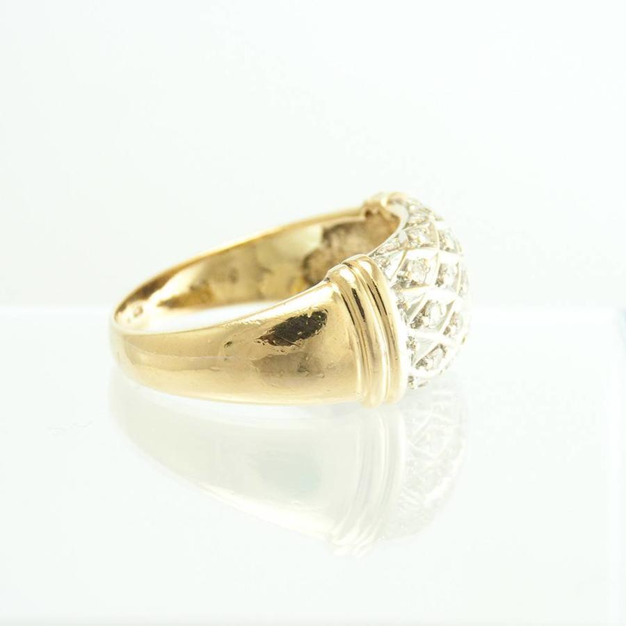 14 krt. bicolor gouden ring met briljanten