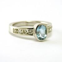 18 karaat wit gouden ring