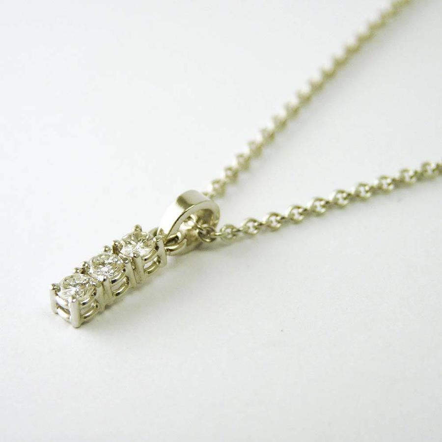 18 karaat wit gouden collier met  hanger van briljanten