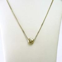 18 karaat wit gouden collier met briljant