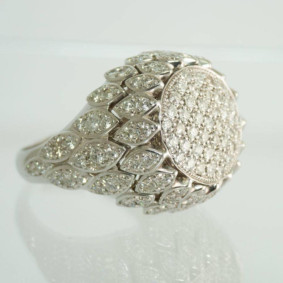 18k wit gouden ring met Briljant