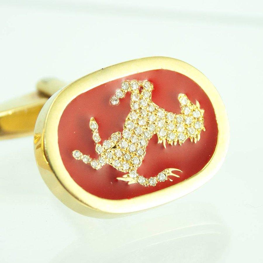 18 krt. geel gouden manchetknopen