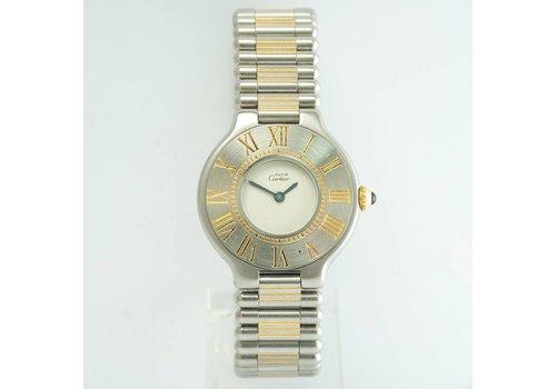 Cartier le Must 21 staal/gd quartz KHR. 1340 doos