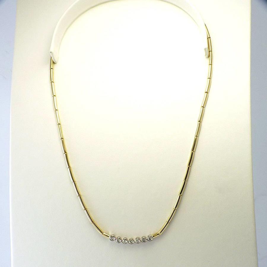 Occasion 18k geel gouden collier met Briljant