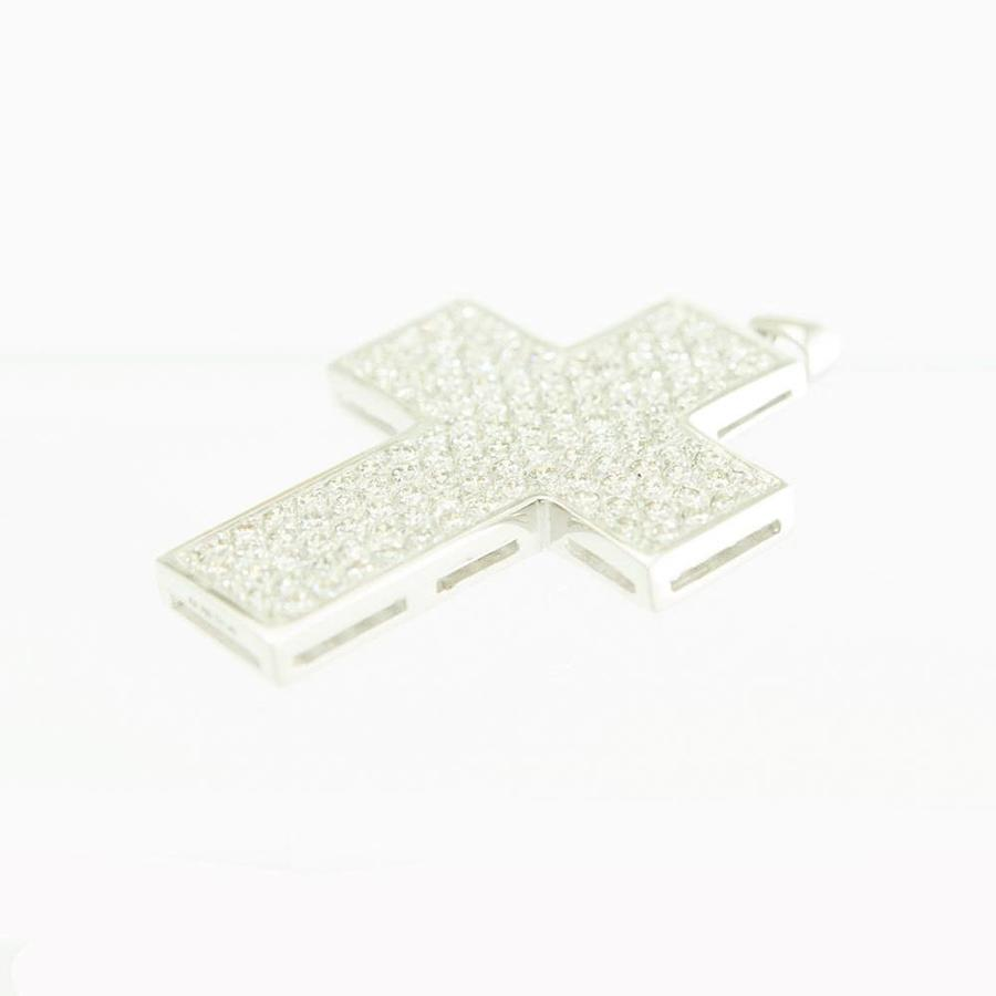 18 krt. wit gouden kruis