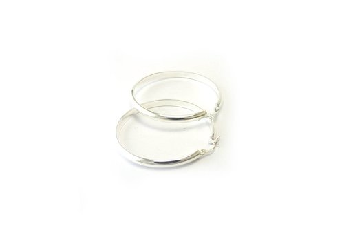 Zilveren creolen Ov 4-35. 35mm