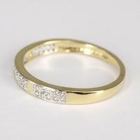 14 karaat geel gouden damesring met briljant SDR 1409